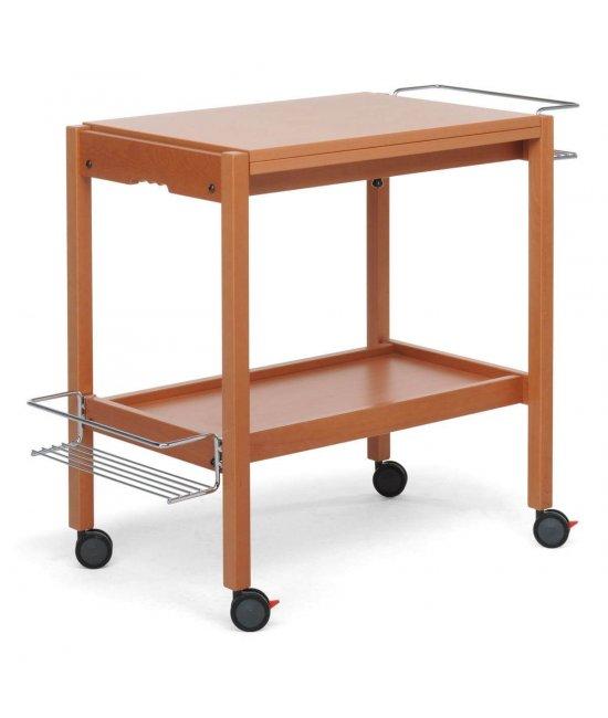 Раскладной столик на колесиках Newton орех-1