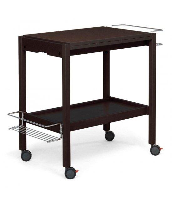 Раскладной столик на колесиках Newton венге