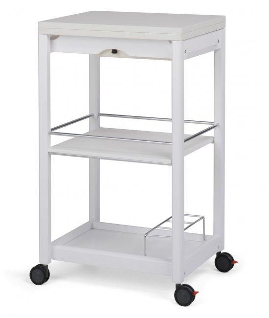Раскладной столик на колесиках Servi-Tu белый-1