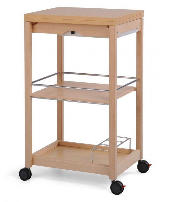 Раскладной столик на колесиках Servi-Tu натурале