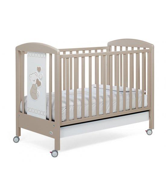 Деревянная детская кроватка Dolcecuore 500 (tortora)