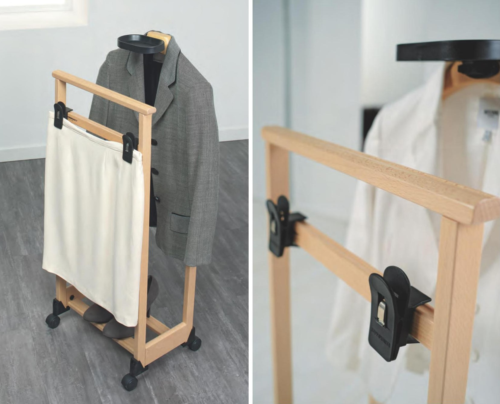 напольная вешалка для костюмов из дерева бук от Foppapedretti