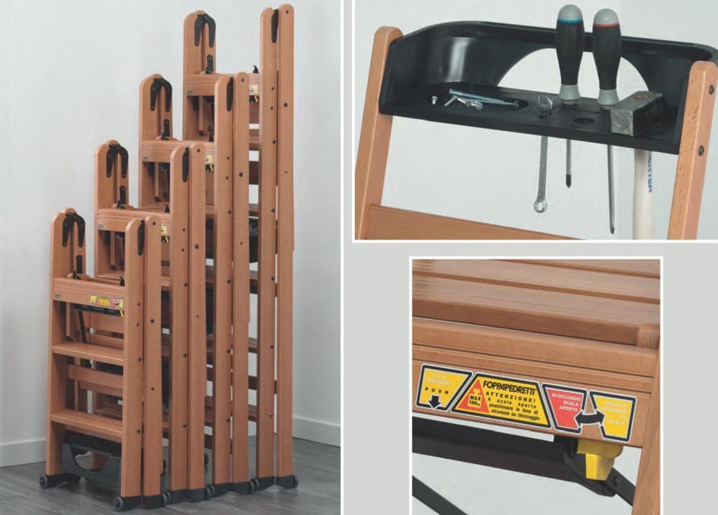 LaScala - деревянные стремянки-трансформеры от Foppapedretti