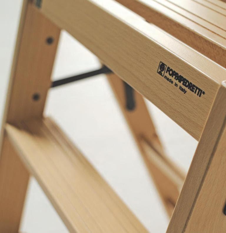 Итальянские товары для дома Foppapedretti - лестницы-трансформеры из  дерева бук.