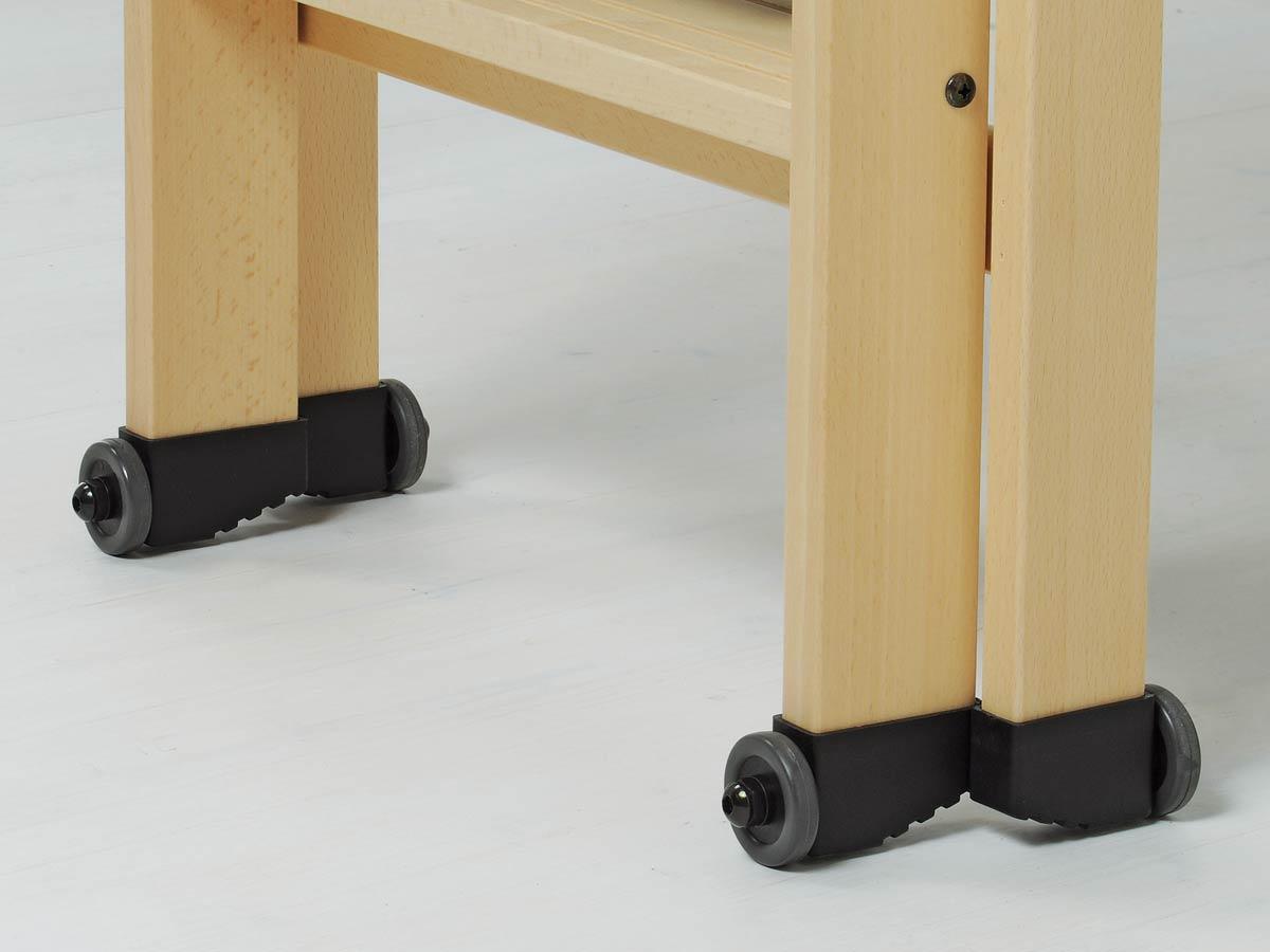 колесики деревянной стремянки LaScala Foppapedretti